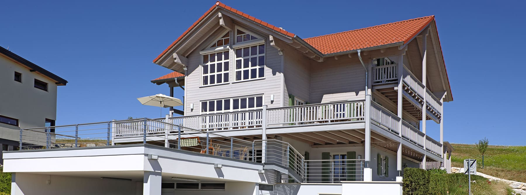 ^ Landhaus - Bauen Sie Ihr Holzhaus, Passivhaus, Plusenergiehaus mit ...