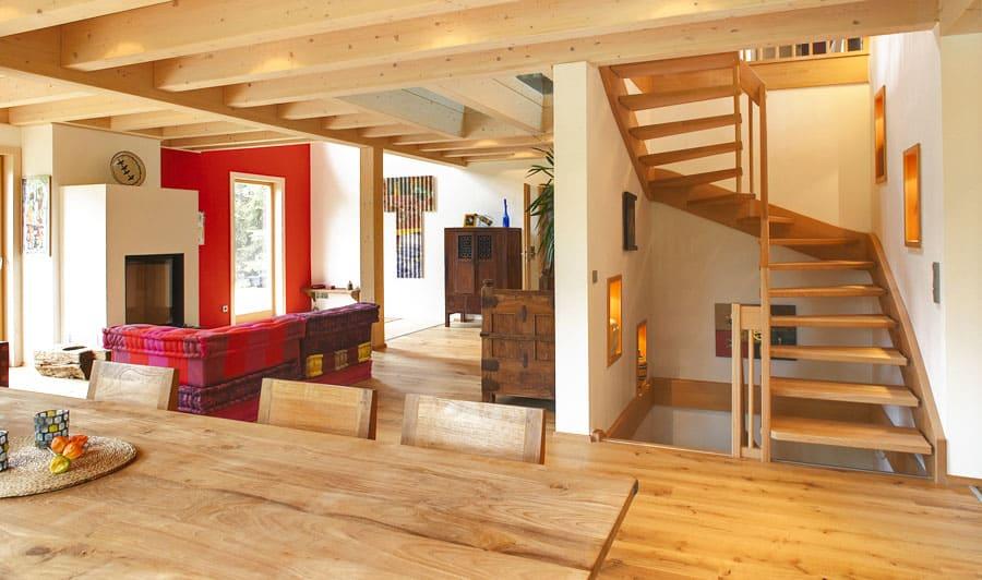kundenhaus hever bauen sie ihr holzhaus passivhaus plusenergiehaus mit sonnleitner. Black Bedroom Furniture Sets. Home Design Ideas