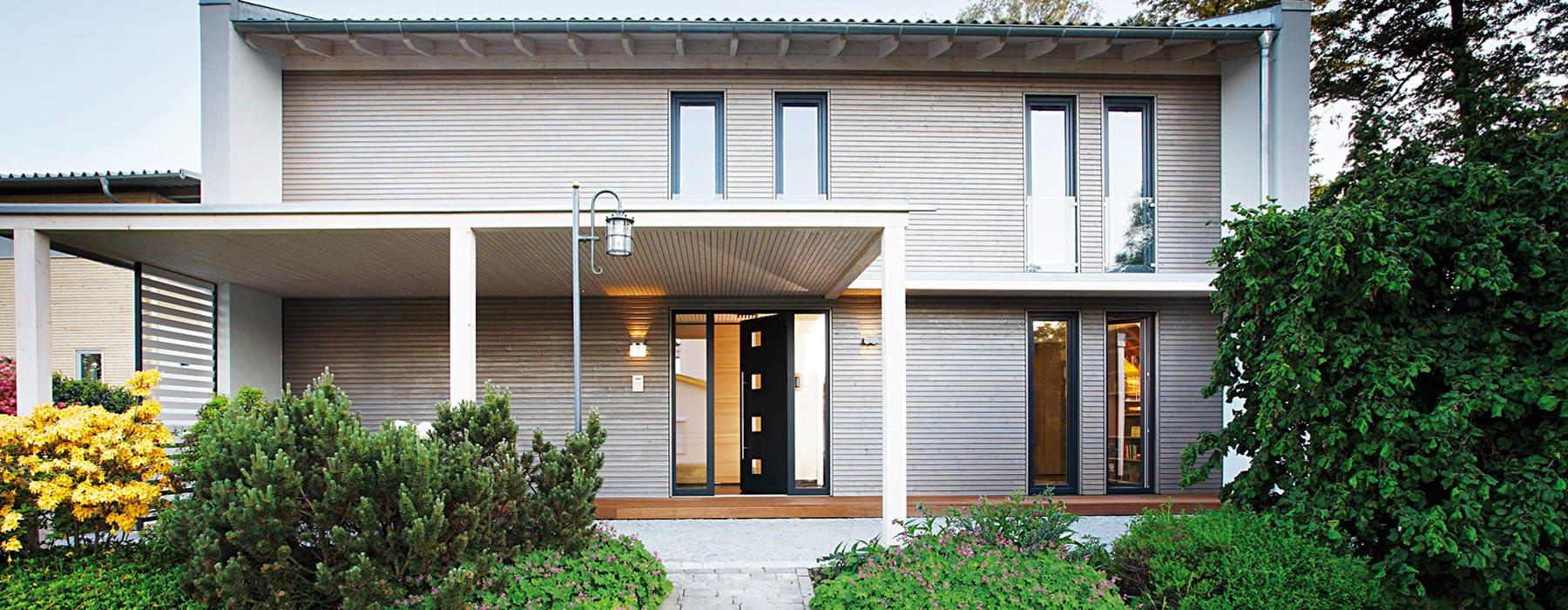 moderne energieeffiziente holzh user aus bayern bauen sie ihr holzhaus. Black Bedroom Furniture Sets. Home Design Ideas
