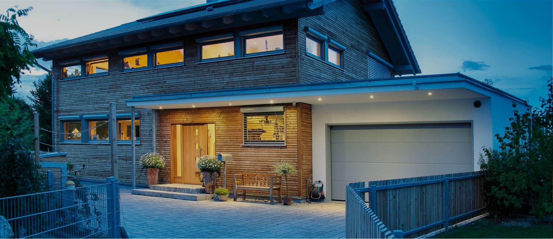 Bauen sie ihr holzhaus passivhaus plusenergiehaus mit for Modernes holzhaus